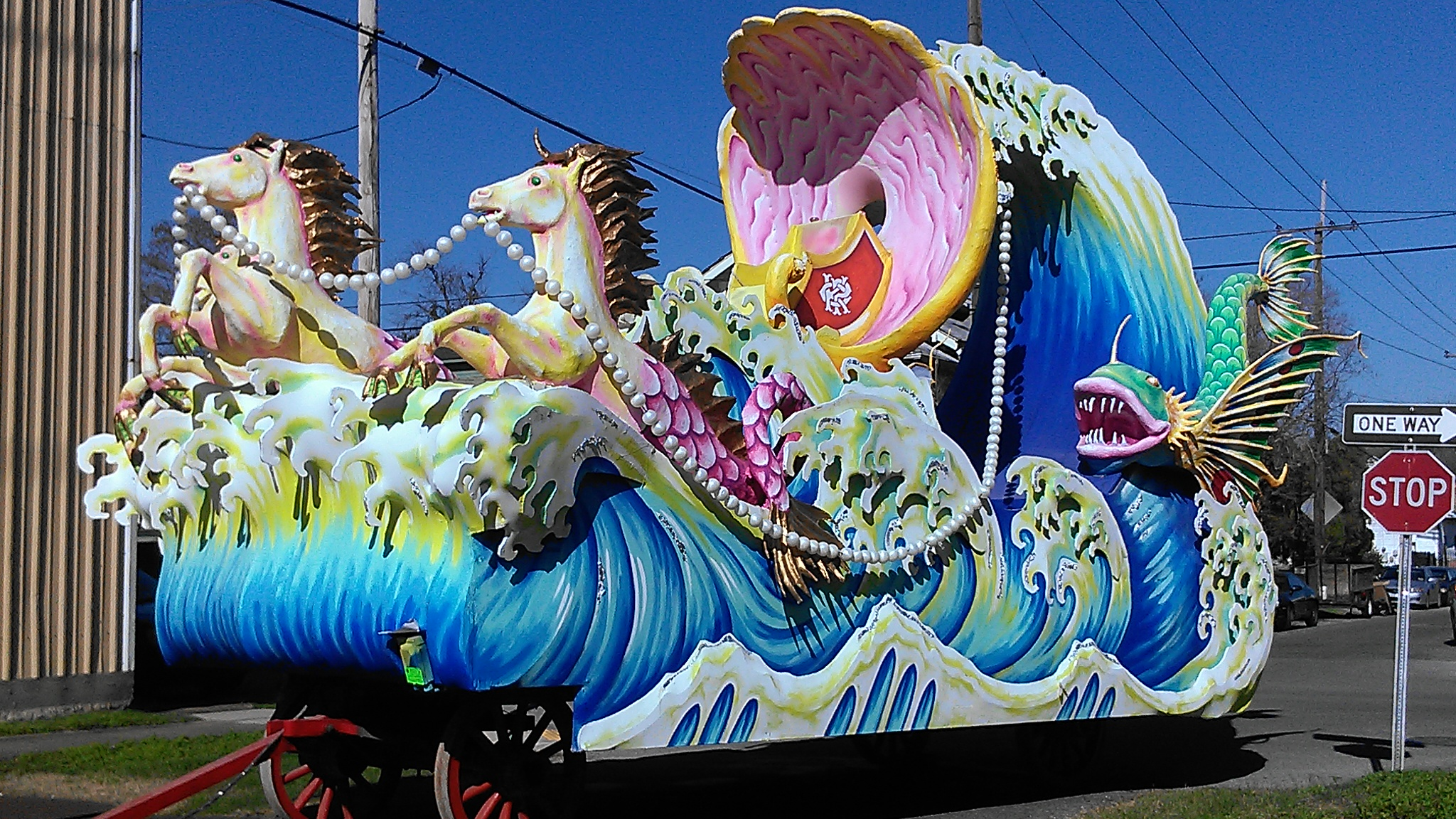 Mardi Gras Painted Body