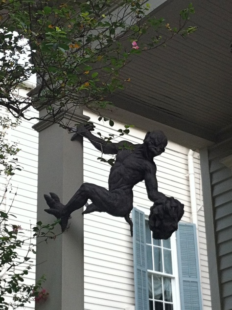This sculpture is on Prytania Street. (photo via NOLAmusings.com)