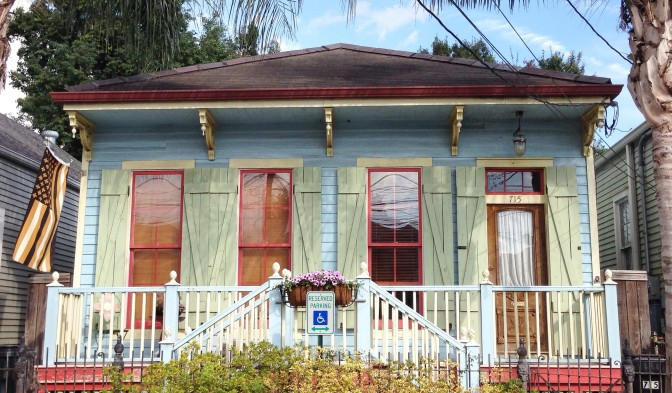 This house is in the Irish Channel. (photo by Carlie Kollath Wells, New in NOLA)