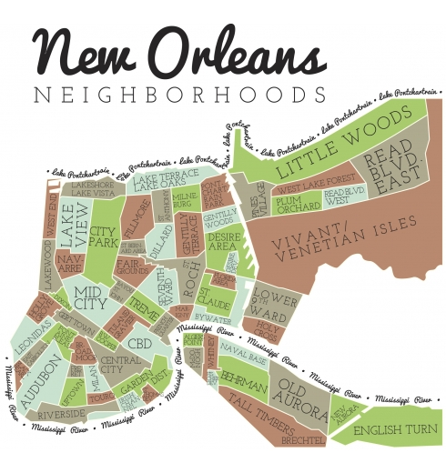 New Orleans Neighborhoods Map New Orleans neighborhood map | New in NOLA