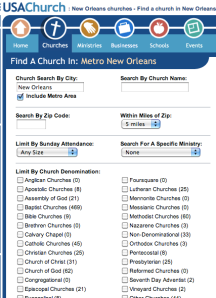 screenshot from usachurch.com