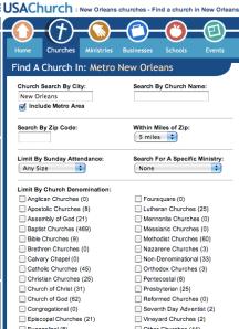 screenshot from usachurch.com