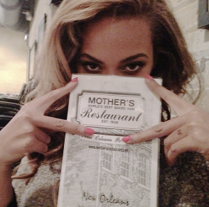 Beyonce posted this photo Monday on her Instagram feed (@baddiebey).