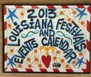 FleurtyGirl.net sells a calendar of Louisiana festivals and events. It's $15. (image via FleurtyGirl.net)