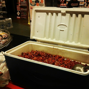 Rouses sells boiled crawfish in Tchoup store in New Orleans (photo via @newinNOLA on Instagram)