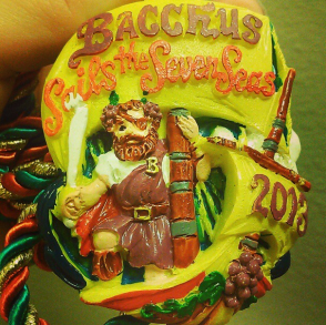 This is one of the collectible Bacchus throws from 2013. (photo via @newinNOLA on Instagram)