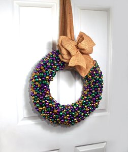 This wreath is for sale on Etsy for $75. It's in @nolabeadart's shop.