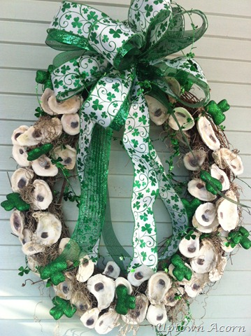 oyster wreath via UptownAcorn.blogspot.com