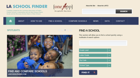 Screenshot of LASchoolfinder.com