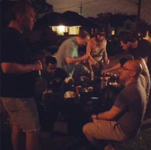 The party moved outside as the sun went down. (photo via @NewinNOLA on Instagram)