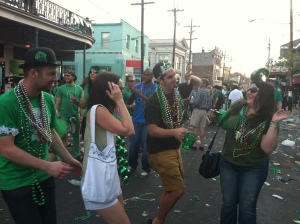 The parade after-party is the best part. Prepare to dance in the street. (photo via Kim Smelter/New in NOLA)
