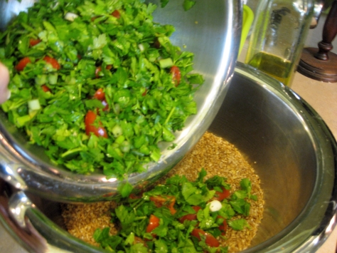 how to make tabbouleh like a New Orleans native (photo by Patsy R. Brumfield/Southfacin' Cook)