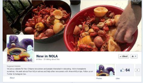 We're on Facebook: New in NOLA.