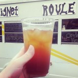 The New in NOLA crew had several cup of the tasty mint-orange iced tea from Beignet Roule. (photo by Carlie Kollath Wells/New in NOLA)
