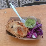 New in NOLA Molly's spinach and feta empanada from Empanada Intifada (photo by Carlie Kollath Wells/New in NOLA)