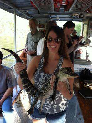 Kim Smelter has been on six swamp tours in the New Orleans area. (photo via Kim Smelter)