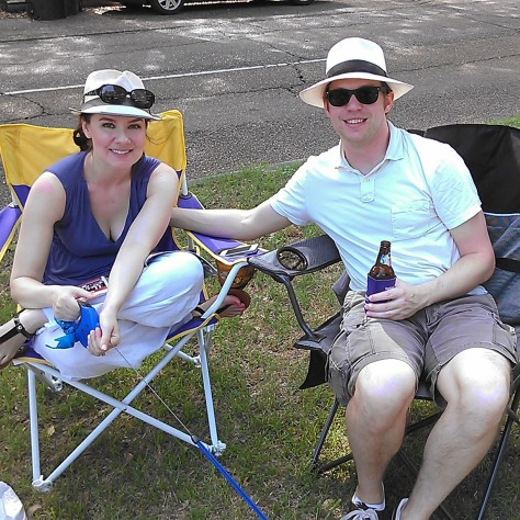 Our lawn bowling hosts - New in NOLA's Margaret and Chapman (photo by Carlie Kollath Wells/New in NOLA)