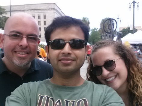 "Satyajit ""Sat"" Dixit, pictured in the middle, organizes a wonderful New Orleans Meetup group. (image via Meetup)"
