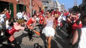 running with the bulls in New Orleans (photo by Carlie Kollath Wells/New in NOLA)