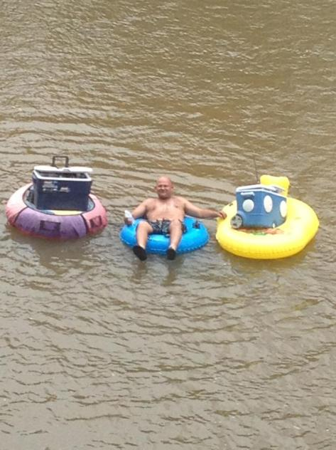 We take our tubing seriously. Pack your coolers appropriately. (photo via Tiki Tubing on Facebook)