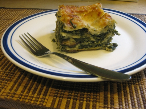 how to make vegetarian lasagna (photo by Patsy R. Brumfield/the Southfacin' Cook)