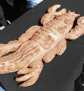 crawfish bread at the Louisiana Seafood Festival (photo by Carlie Kollath Wells/New in NOLA)