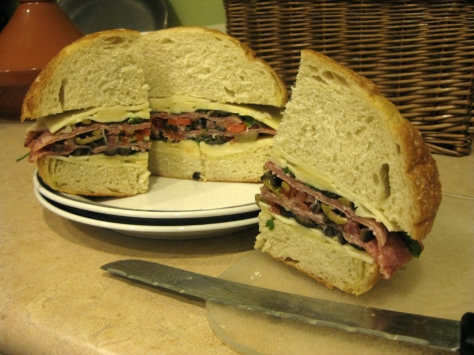 how to make a muffuletta like a New Orleans native (photo by Patsy R. Brumfield/The Southfacin' Cook)