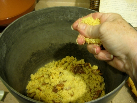 how to make cornbread dressing (photo by Patsy R. Brumfield/Southfacin' Cook)