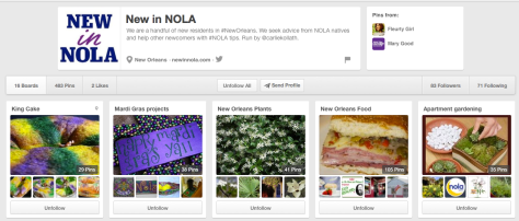 New in NOLA is on Pinterest. Follow us.