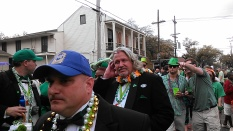Rob Ryan at the St. Patrick's Day parade in the Irish Channel (photo by Carlie Kollath Wells / New in NOLA)