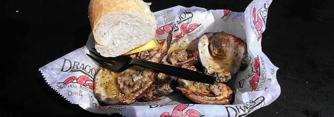 charbroiled oysters from Drago's (photo by Carlie Kollath Wells/New in NOLA)