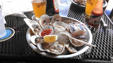 raw oysters at The Blind Pelican on St. Charles (photo by Carlie Kollath Wells/New in NOLA)