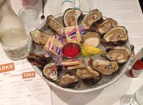 Luke in the CBD has happy hour specials for raw oysters. (photo by Carlie Kollath Wells, NewinNOLA.com)