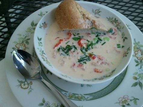 how to make crawfish chowder (photo by Patsy R. Brumfield/The Soutfacin' Cook)