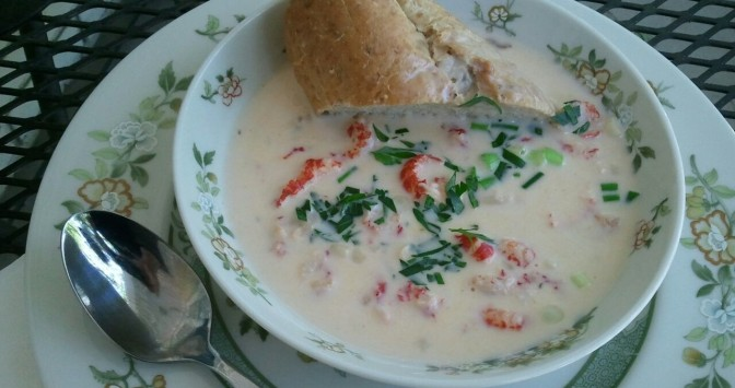 how to make crawfish chowder (photo by Patsy R. Brumfield/The Southfacin' Cook)