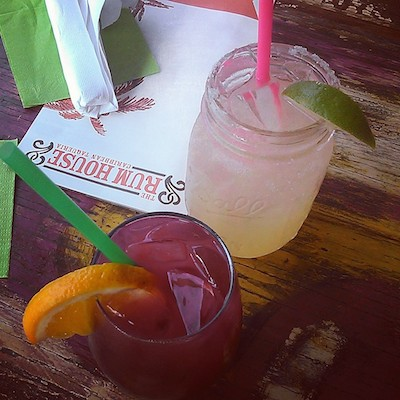 margarita and sangria from Rum House (photo by Carlie Kollath Wells, New in NOLA)