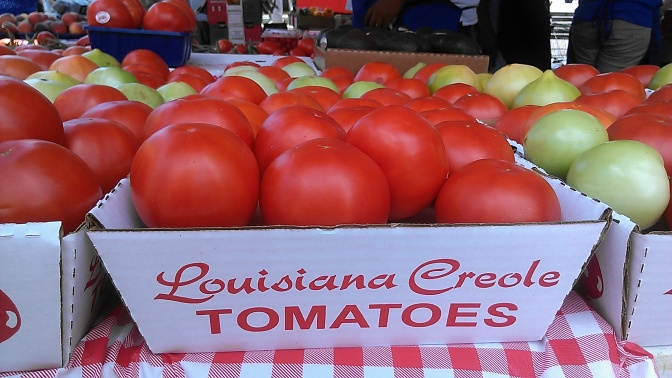 creole tomatoes at the French Market (photo by Carlie Kollath Wells/New in NOLA)