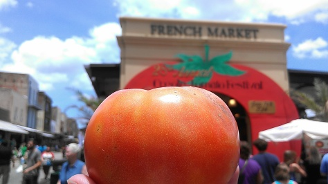 Creole Tomato Festival at the French Market (photo by Carlie Kollath Wells/New in NOLA)