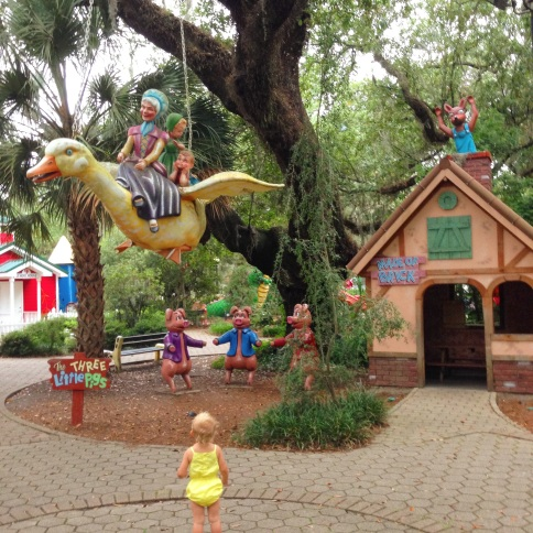 Storyland is inside New Orleans City Park. It's like a giant playground depicting children's stories. (photo by Carlie Kollath Wells, New in NOLA)
