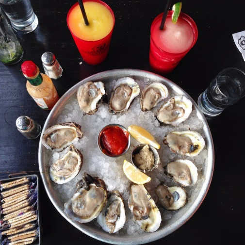 Mmm. We love raw oysters. These are from Superior Seafood on St. Charles Avenue. (photo by Carlie Kollath Wells, New in NOLA)