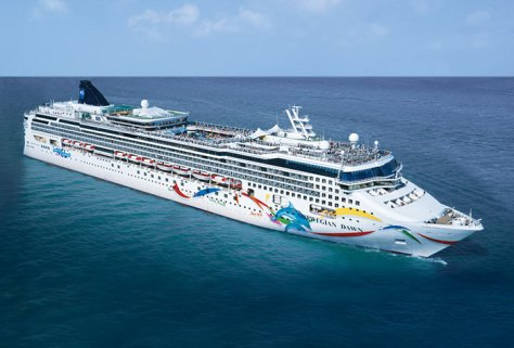"The Norwegian Dawn is home to the ""Celebrating the King Cruise"" from April 17-24. (Image via Norwegian Cruise Lines)"